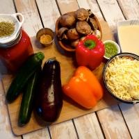 Lasagne aux légumes grillés, béchamel au pesto